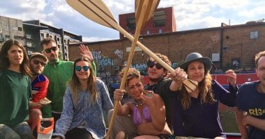 Moo Canoes, Poplar Union, Limehouse Cut, East London, things to do, Canoeing, paddle boarding
