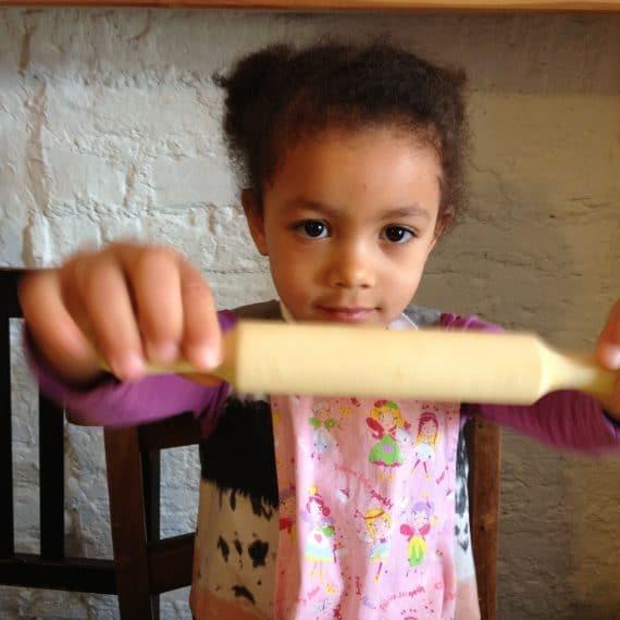 Kids kitchen cooking food children pizza Poplar Union workshop parents guardians kids