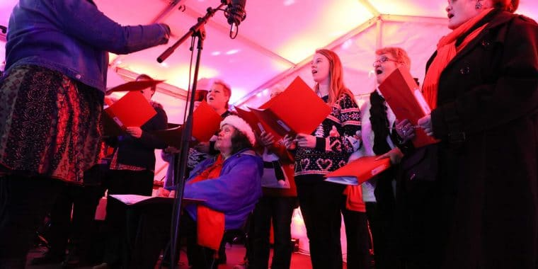 Choir, poplar singers, poplar union, music, Christmas, arts, culture, community