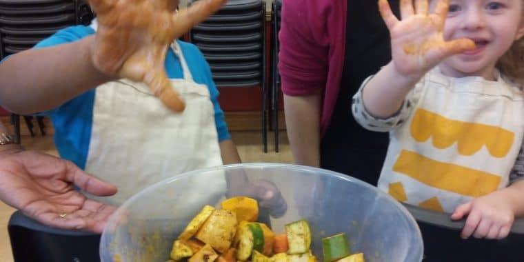 Kids kitchen, cooking, food, children, pizza, Poplar Union, workshop, parents, guardians, kids
