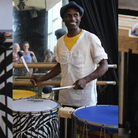 Dende, percussion and dance workshop at Poplar Union