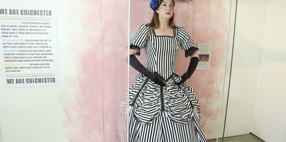 Alice d'Lumiere - Making an Exhibit of Herself, scratch night, Poplar Union, East London, scratch crackle and pop, work in progress
