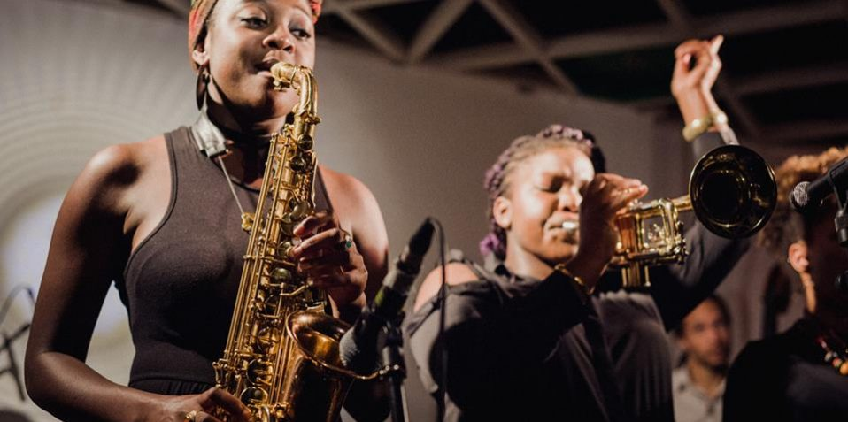 Jazz Herstory, Poplar Union, jazz, women in jazz, world music, east London, whats on, things to do, gigs, gigs in London, Nerija, SEED Ensemble 5tet, sheila Maurice grey, Cassie kingship, Shirley teethe, rio kai, Patrick Boyle