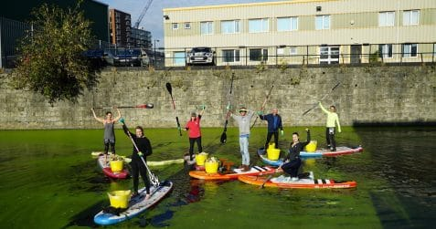 Moo Canoes, Poplar Union, east London, kids and family, art centre, paddle boarding, canoeing, Limehouse Cut Canal, Canals and River Trust, litter picks, last Monday of the month