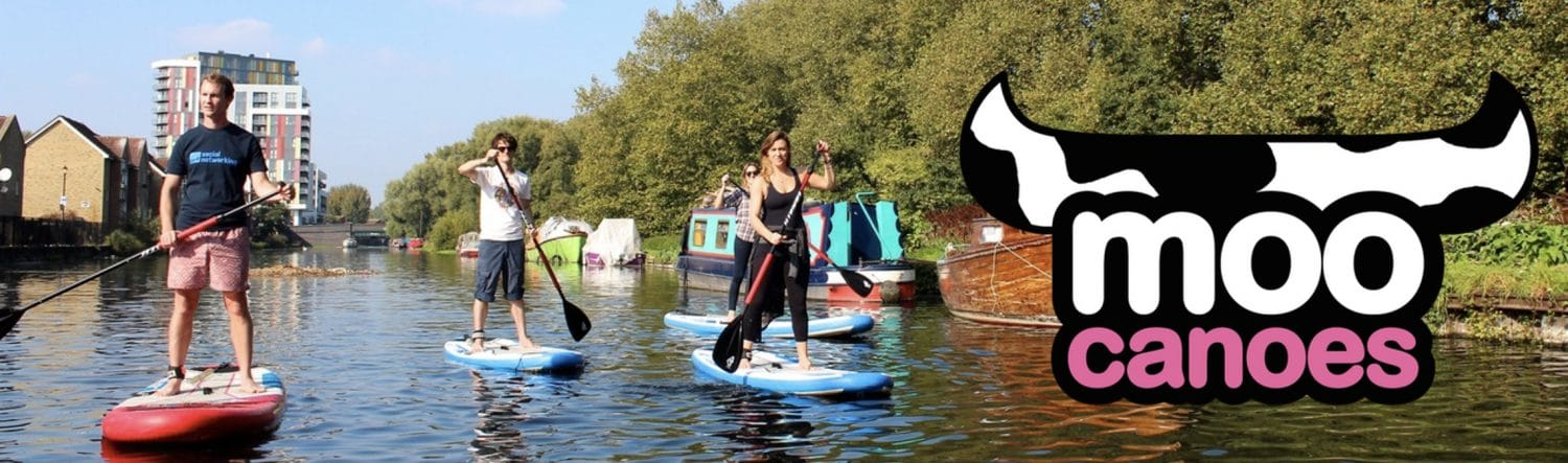Moo Canoes, Paddle Boarding, Poplar Union, Limehouse Cut Canal, Canals in London, Canoeing, litter picks, community, things to do in london, summer, East London, canals & river trust, fun activities, health & wellbeing, westferry, Mile End, hackney, London