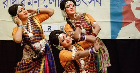 RadhaRaman Society, International Dance Day, Poplar Union, East London, traditional Indian dance and music, Tagore, Three Girls, Mou, Tanna, Baby, Tower Hamlets, Saudha