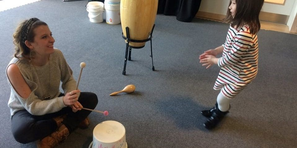 Mindful Music, Poplar Union, kids music club, mindfulness for children, East London, drumming, music, kids wellbeing