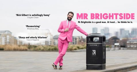 Nick Gilbert, Mr Brightside, Poplar Union, theatre off the Westend, things to do, Mindful Mess festival 2020, mental health, tower hamlets, East London