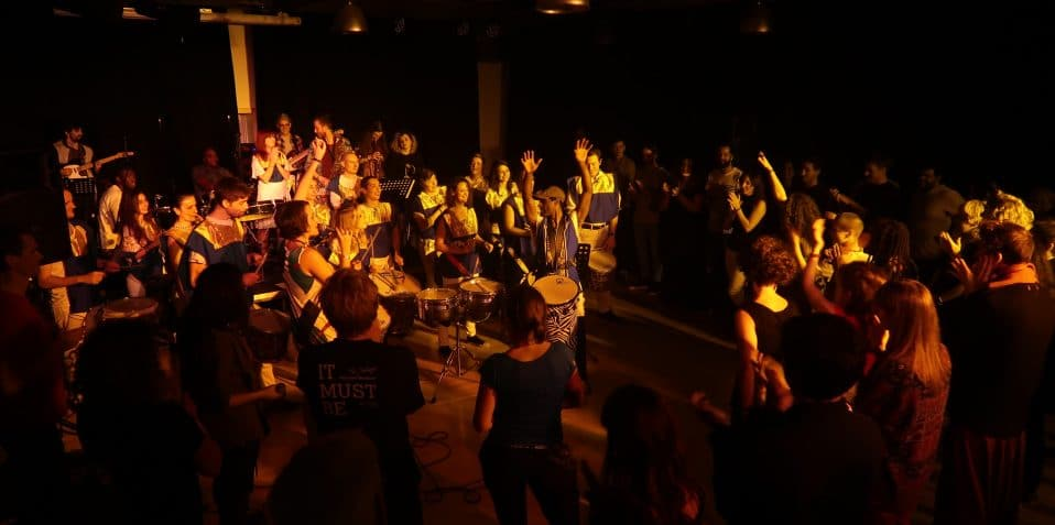 Baque Luar, Poplar Union, Dendê Nation, Noite Dos Tambores No Leste, East London, live music, gigs in London, afro-brazillian music, dende nation