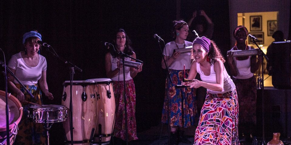 Baque Luar, women in music, north Brazilian music, world music, live music, free gig, women in theatre, march 2020, Poplar Union, East London, things to do, free day out, London, women in focus festival, international womens day