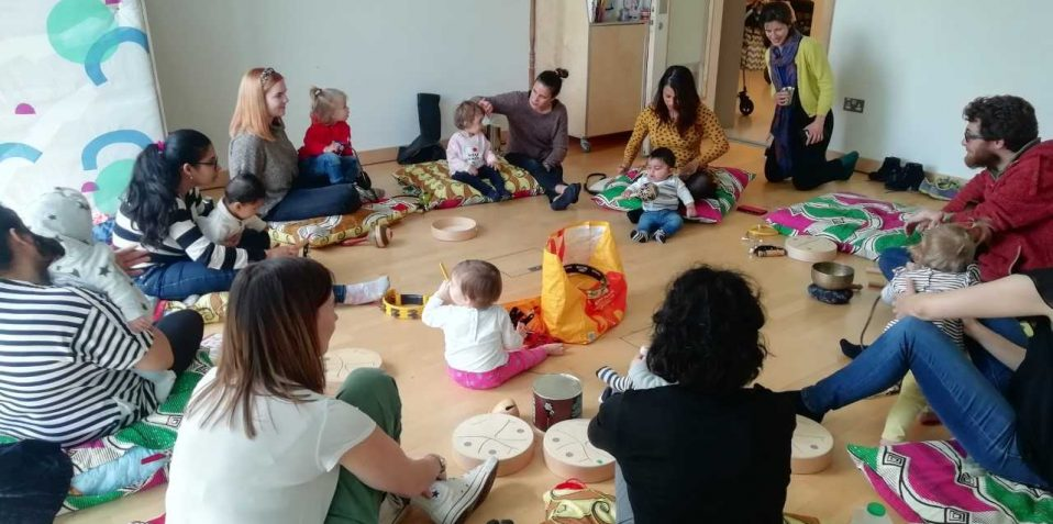 Bring a baby Ukulele, Poplar Union, baby music workshop, sensory play, East London, things to do with my baby near me, Poplar, Tower Hamlets