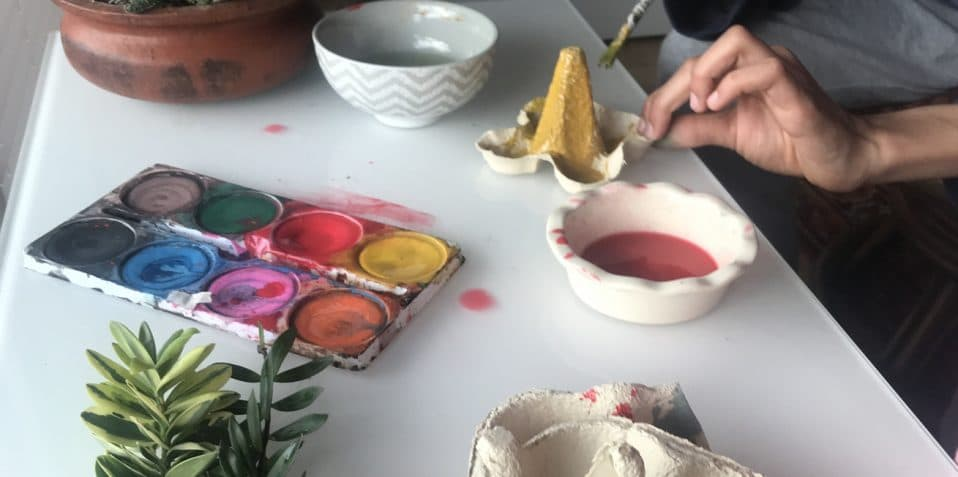 Easter family workshop, Maud Barrett, Poplar Union, Tower Hamlets, East London, arts and craft workshop, what to do with the kids, eco arts and crafts, sustainability, zero waste workshop, easter holidays