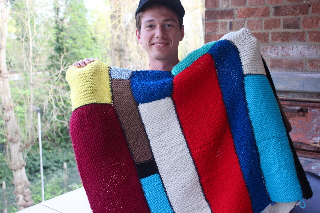 Patchwork project, Joel O'Donoghue, blog, poplar union, knitting in lockdown, things to do in lockdown, art project