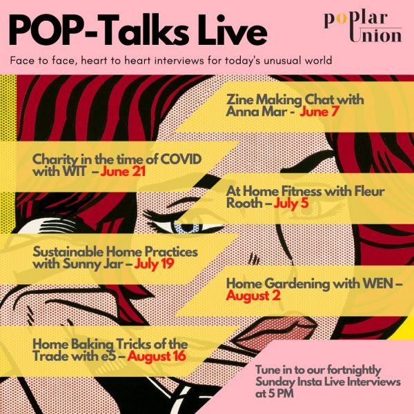 POP-Talks Live, Poplar Union, Instagram live interviews, Sunday afternoons, discussions with creatives