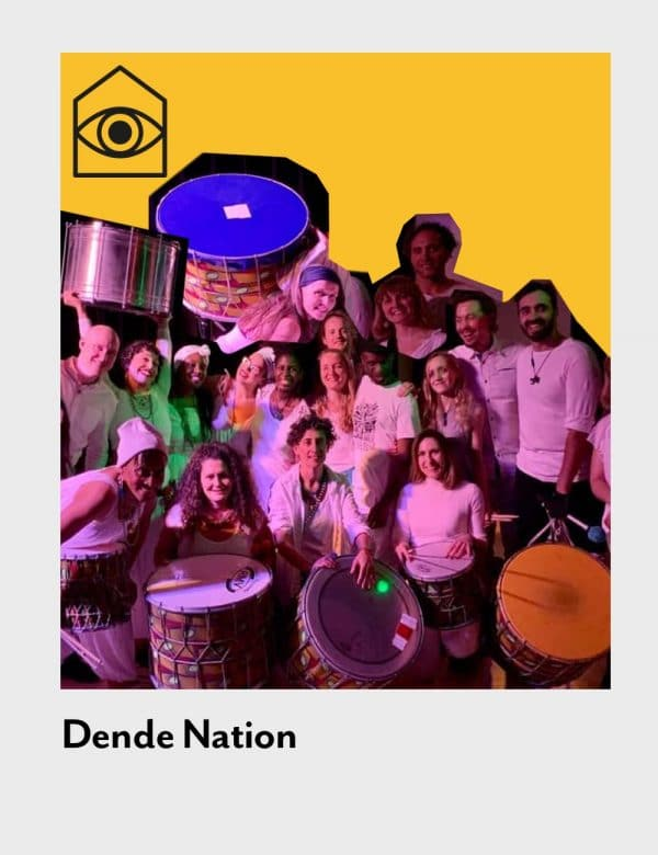 poplar union, outside in arts festival, 2020, dancer, artist, digital festival, arts festival, Dende Nation, Samba Reggae, Brazilian drumming, commission