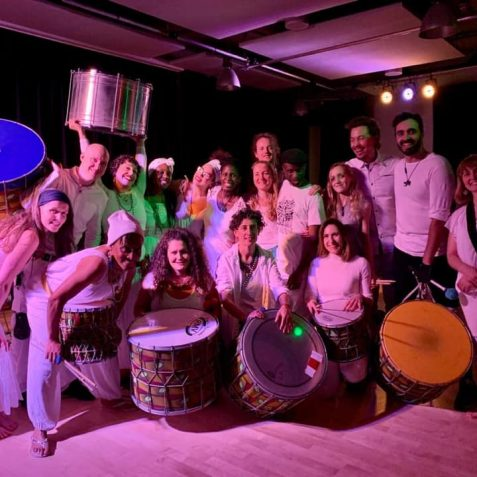 poplar union, outside in arts festival, 2020, dancer, artist, digital festival, arts festival, Dende Nation, Samba Reggae, Brazilian drumming, commission