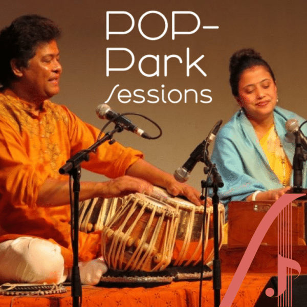 POP-Park sessions, Yousuf Ali Khan and Mahamaya Seal, poplar union, tabla, South Asian music gigs near me, free gigs, live music near me, outdoor gigs, Bartlett park