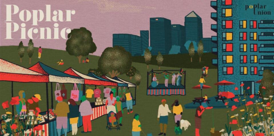 Poplar Picnic 2021, Poplar Union, Tower Hamlets, East London, community events, music, stalls, market, September, free, things to do
