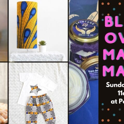 black-owned makers market, poplar union, October, market, east London