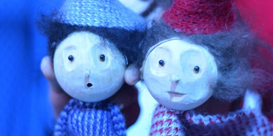 Snow, Tiny Light theatre, snowman, poplar union, East London, kids theatre, puppet show, Christmas, festive theatre, December, East London parents