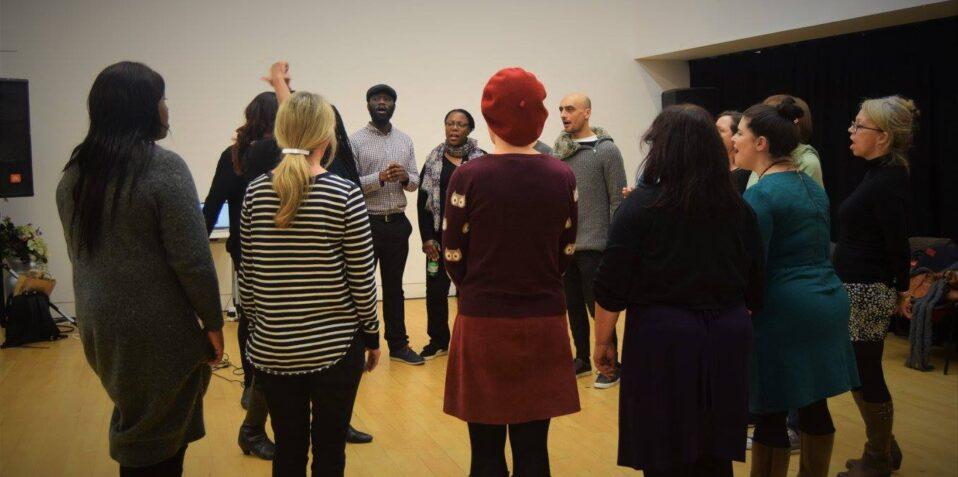 London House Cats Choir, workshops, poplar union, choir workshops, singing, hobby, December 2021, East London